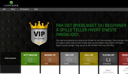 casinoluck har et bra vip-program