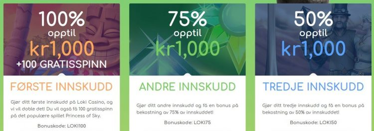 Loki Casino bonus og gratisspinn
