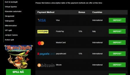 betalingsmetoder på cashpot casino