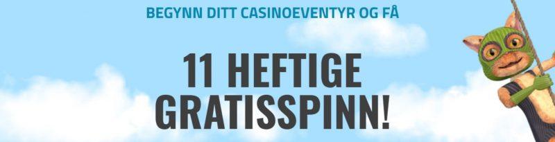 få gratis casino bonus og gratisspinn