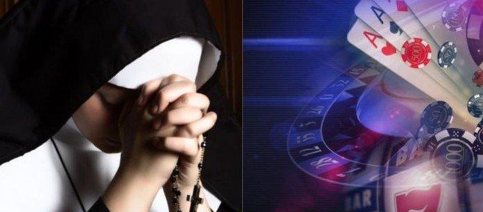 nonner stjal penger for å kunne gamble på casino
