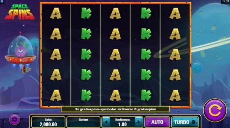Space Spins casinotopplisten