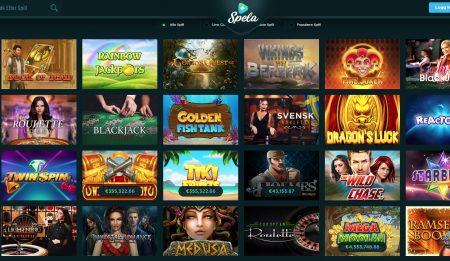spillutvalg hos spela casino