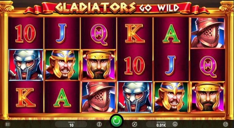 Gladiators Go Wild casinotopplisten