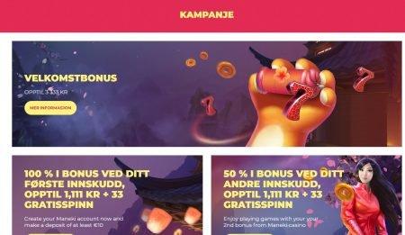 kampanjer hos maneki casino