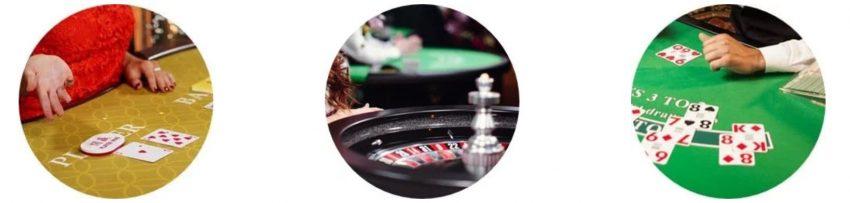 live casino på nettet byr på masse forskjellige bordspill som baccarat, blackjack og roulette