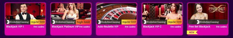 live casino spill hos no casino bonus