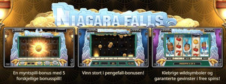 niagara falls spilleautomat yggdrasil