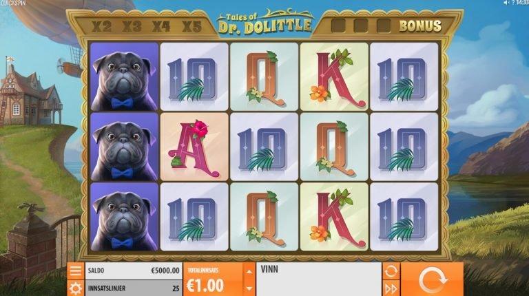 Tales of Dr. Dolittle casinotopplisten