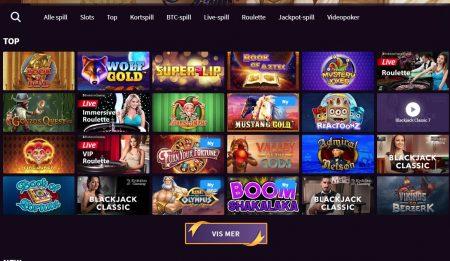 wildblaster casino utvalg av spill
