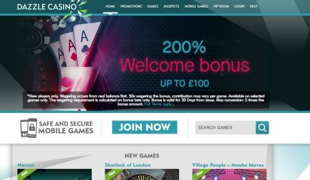 dazzle casino omtale og anmeldelse
