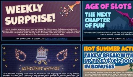kampanjer hos bluefox casino