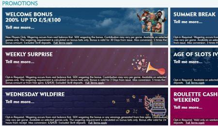 kampanjer hos dazzle casino