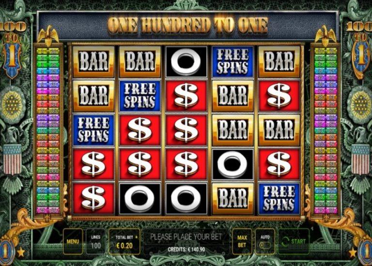 One Hundred to One casinotopplisten