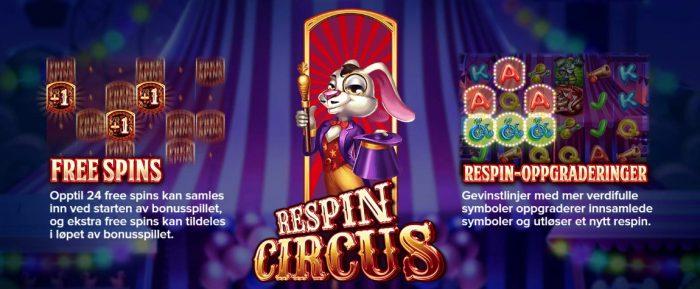 respins circus slot