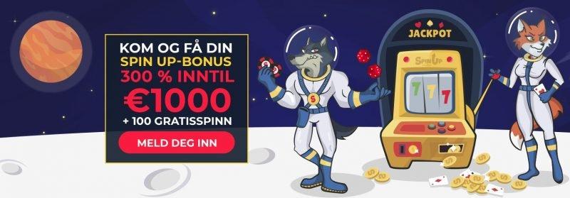 spinup casino stor velkomstbonus