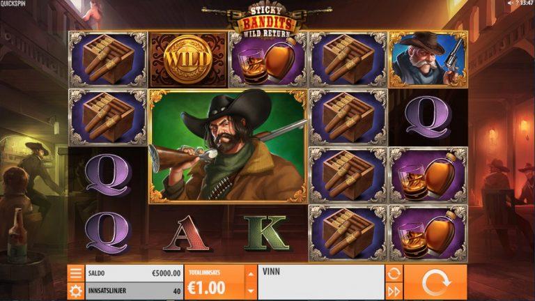 Sticky Bandits: Wild Return casinotopplisten
