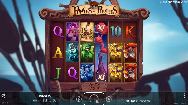 Pixies vs Pirates casinotopplisten