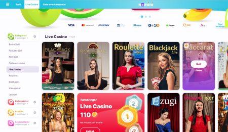 nomini casino frukter og live