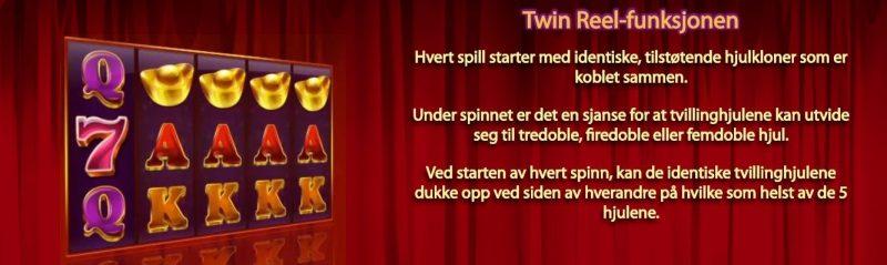 twin happiness spill funksjon