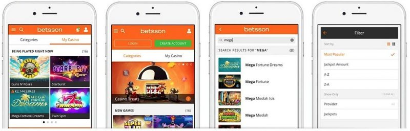 Mobil casino hos Betsson