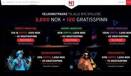 n1 casino kampanjer og bonuser