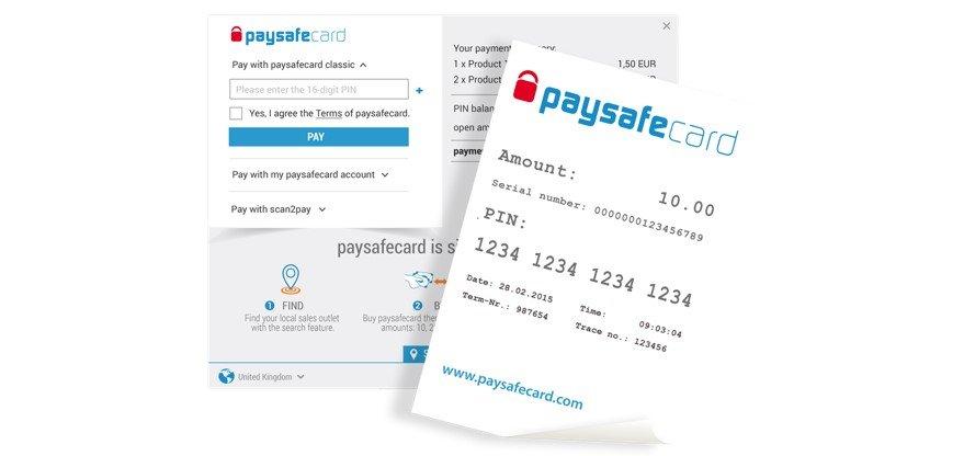 paysafecard nettcasino