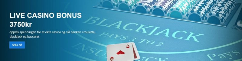 live casino bonus hos exclusivebet