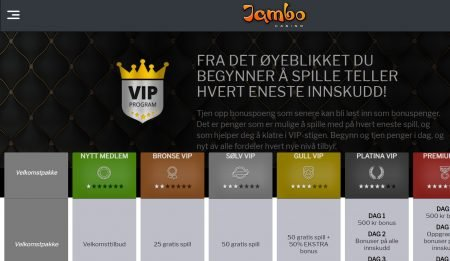 jambo casino vip program