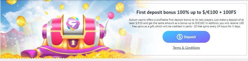 slotum casino velkomstbonus