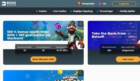 boss casino kampanjer og bonus