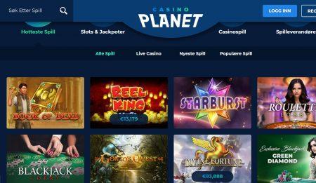 casino planet spillutvalg