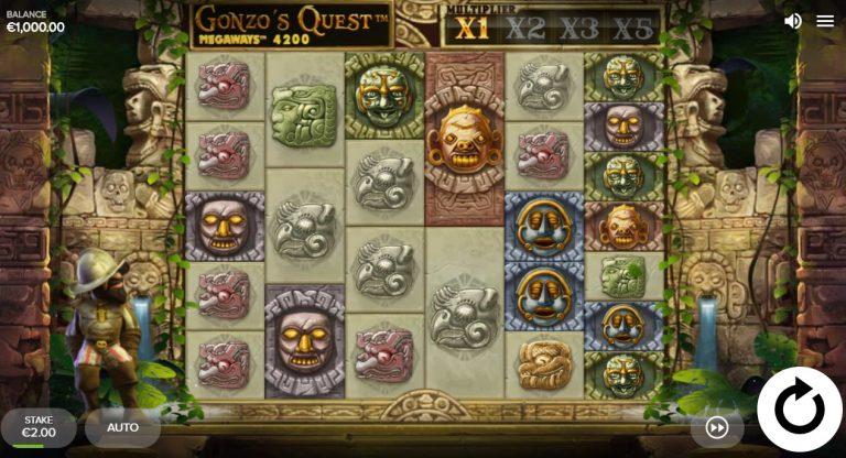 Gonzo's Quest Megaways casinotopplisten