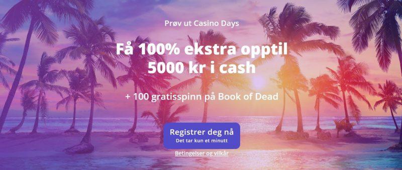 casino days norge bonus