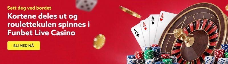 funbet casino spill og live
