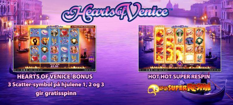 hearts of venice slot