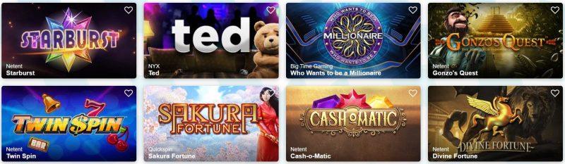 turbovegas casino spilleautomater og spill
