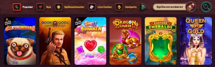 5 gringos casino spillutvalg