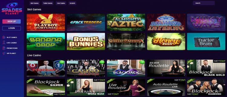spades planet casino spillutvalg