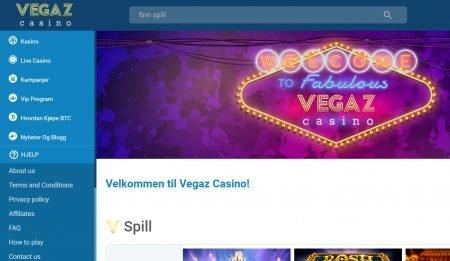 vegaz casino norge omtale