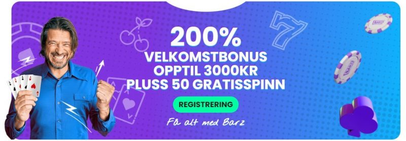 barz casino norge bonus
