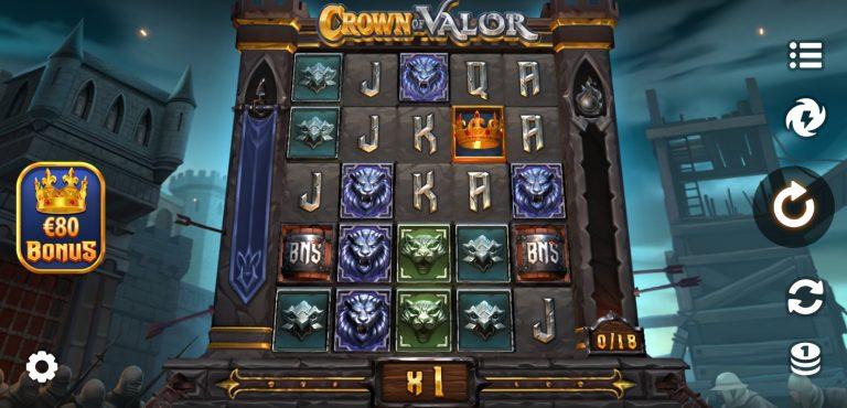 Crown of Valor casinotopplisten
