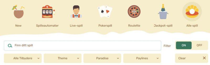 paradise casino spillutvalg
