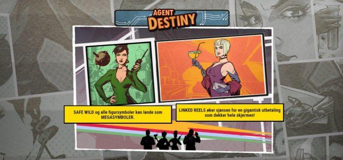 agent destiny spilleautomat fra play n go