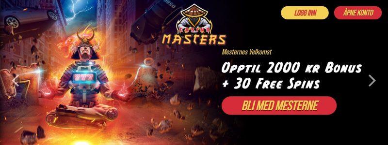 casino masters bonus i norge