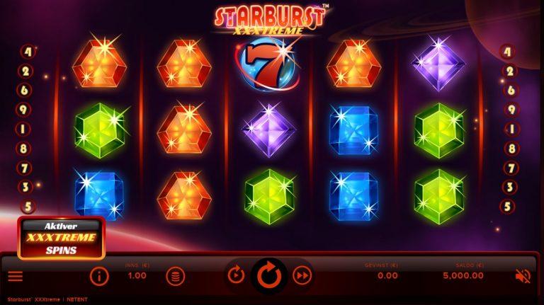 Starburst XXXtreme casinotopplisten