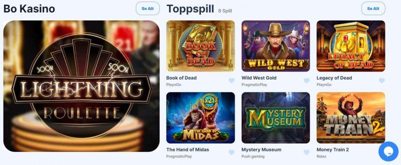 icebet casino norge spillutvalg